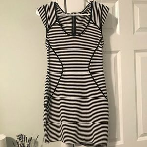 Flattering striped tight Express dress!